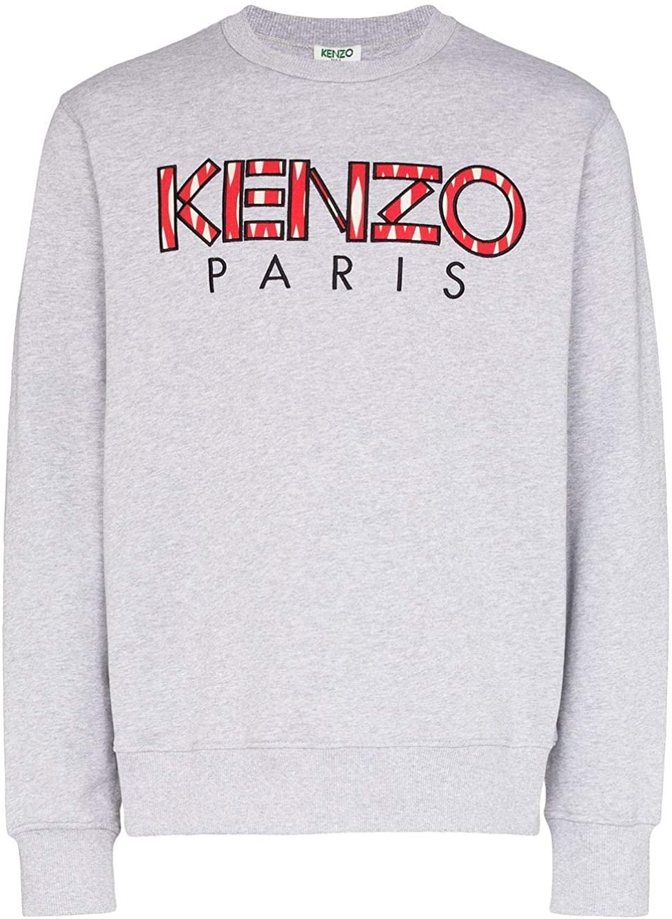 Kenzo Luxury Fashion Man FA55SW0004MD94 Grey Cotton Sweatshirt | Spring Summer 20