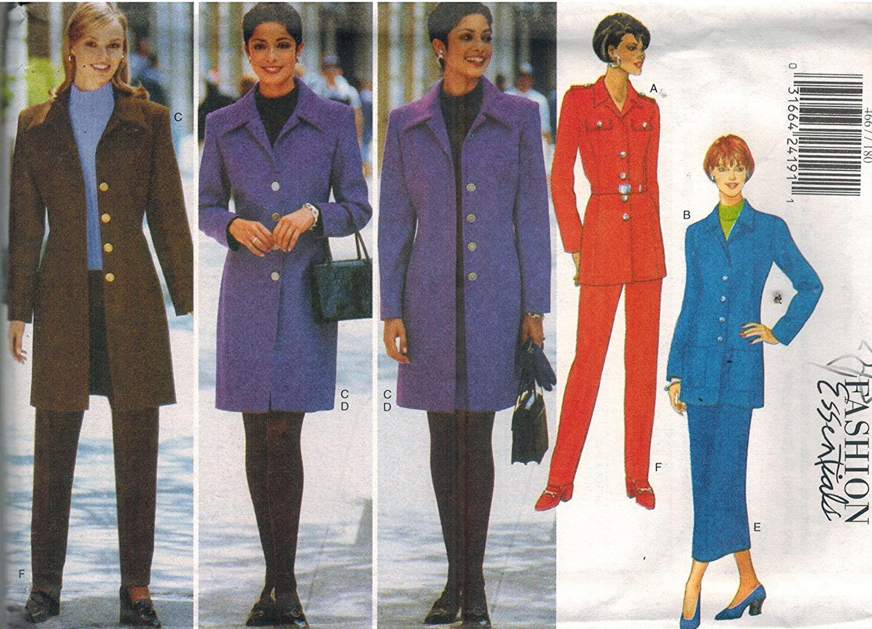 4667 Uncut Butterick Misses Sewing Pattern Jacket Skirt Pants Size 12 14 16