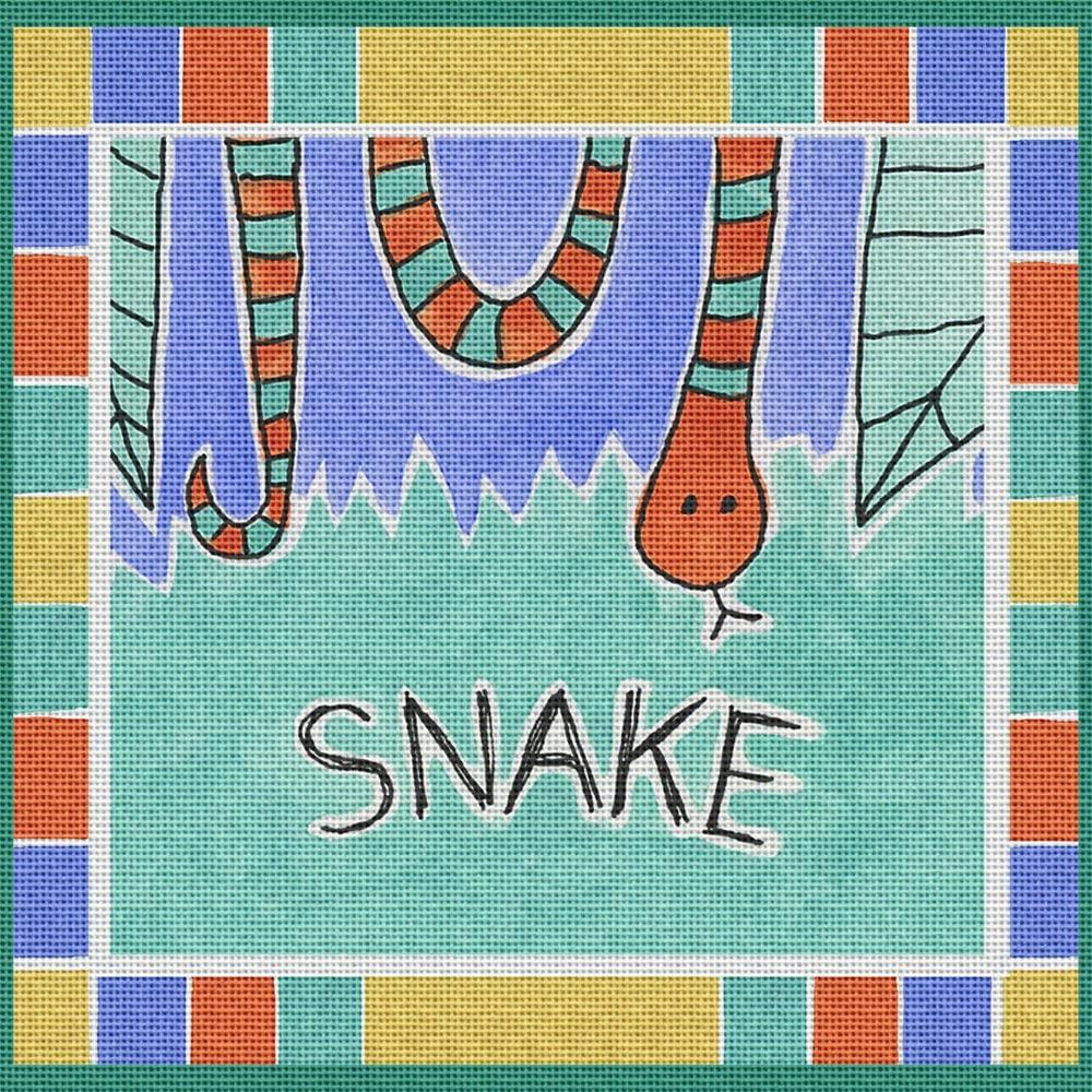 Art Needlepoint Jungle Snake Needlepoint Kit by Perkins & Morley