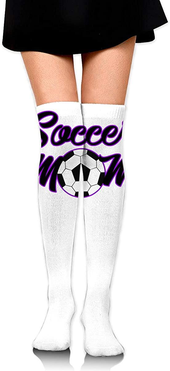 Knee High Socks Soccer Mom Womens Athletic Over Thigh Long Stockings