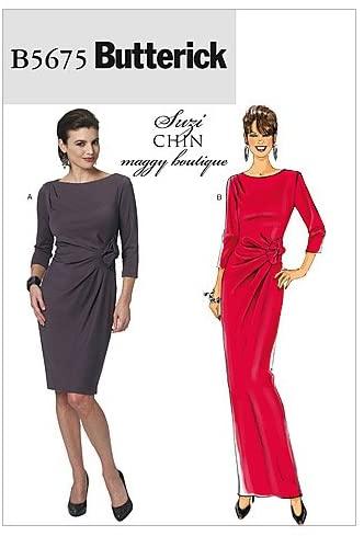 BUTTERICK PATTERNS B5675 Misses' Dress, Size E5 (14-16-18-20-22)