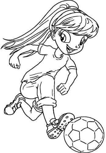 Azeeda A7 'Football Girl' Unmounted Rubber Stamp (RS00003531)