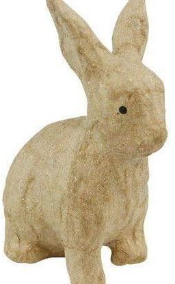 Cardboard Object Xs Sitting Rabbit 4,5x6x10,5cm, Décopatch, Decoupage Animals, Subjects, Hobby Colors