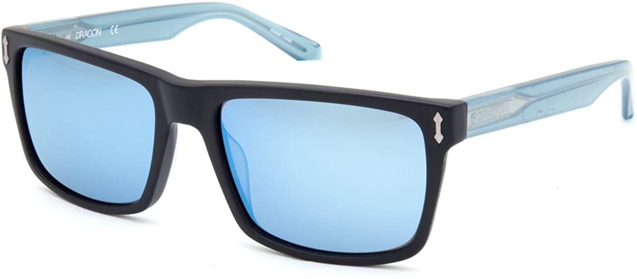 Dragon Alliance Adult Blindside Sunglasses - Matte Black Blue, 57/18/145
