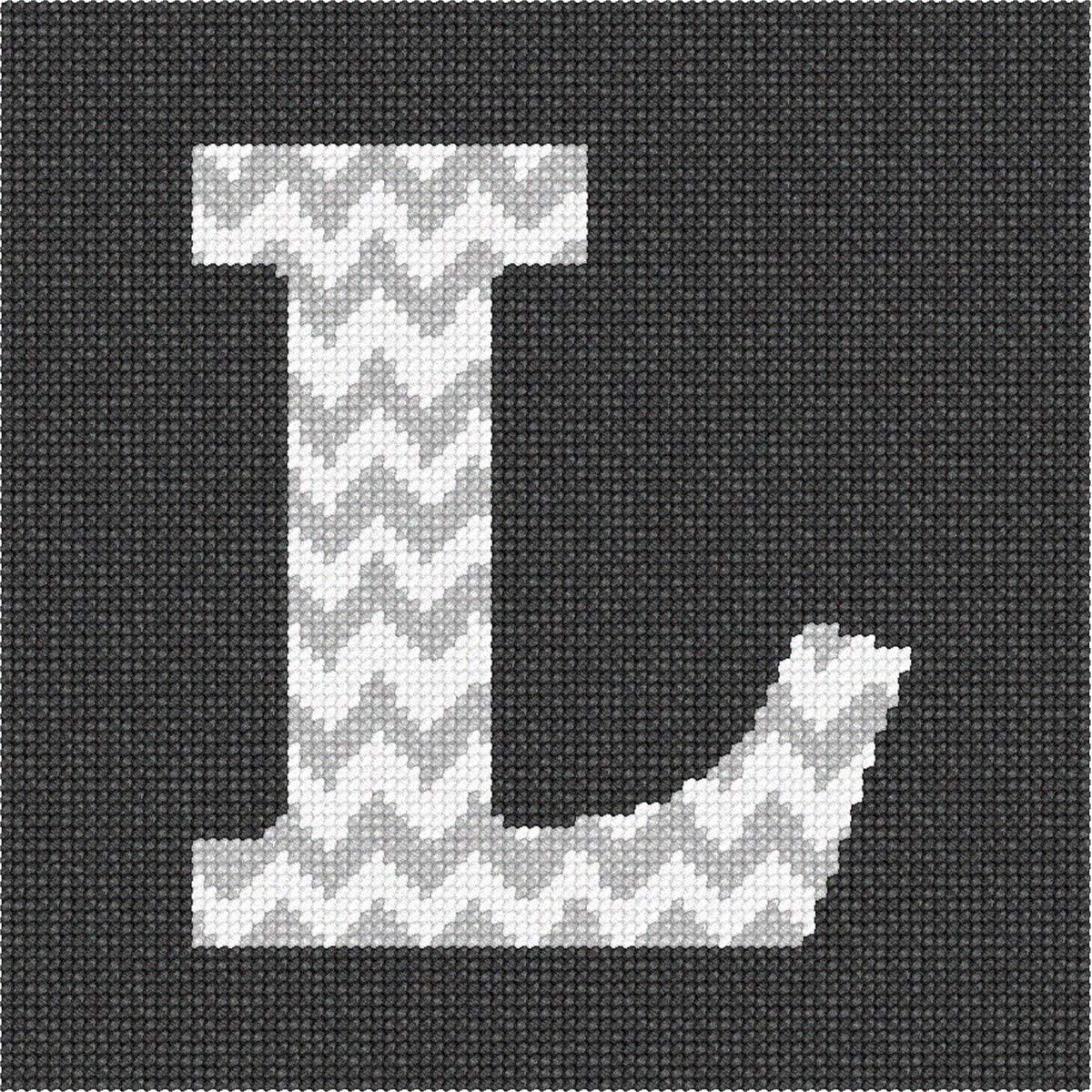 pepita Letter L Chevron Needlepoint Kit
