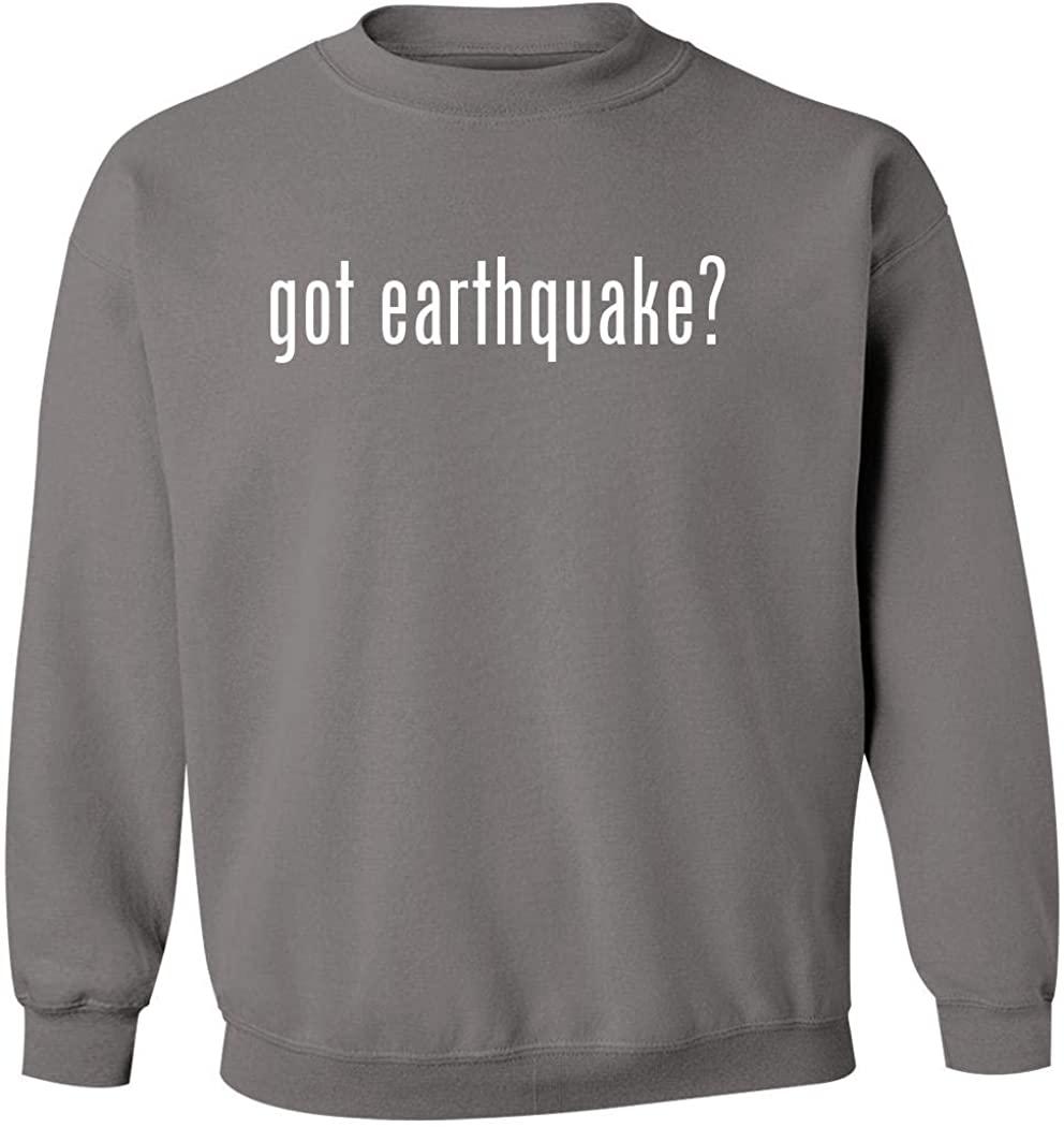 got earthquake? - Men's Pullover Crewneck Sweatshirt, Grey, XX-Large