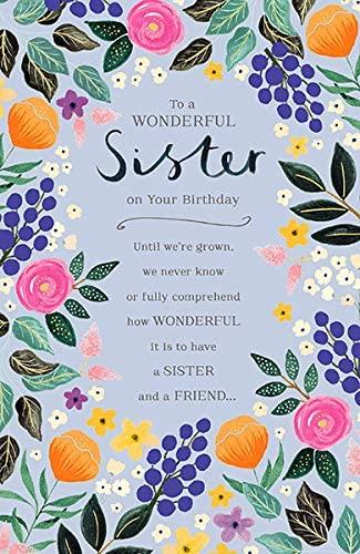 Floral Sister Birthday Card