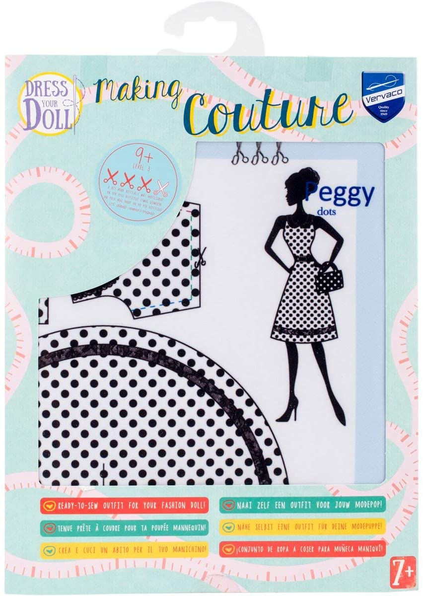 Vervaco PN-0164661 Dress Your Doll Making Couture Outfit Set