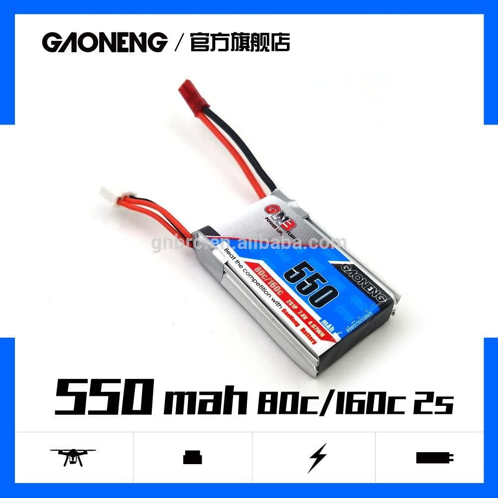 Gaoneng GNB 7.4V 550mAh 2S 80/160C Lipo Battery JST Plug For Aurora 90 100