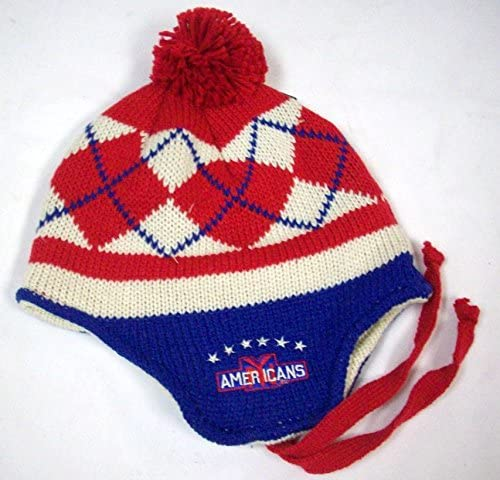 CCM New York Americans Red Classics Tassel Knit Hat
