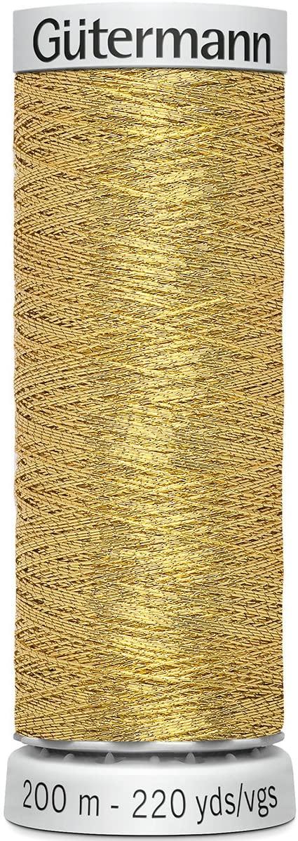 Gutermann Dekor Metallic Thread 200m, Gold