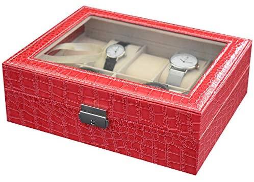 2019 New 10 Grids Handmade Watch Box Caja Reloj Clock Box Time Box Watch Case saat kutusu Horloge Box for Watch Holding