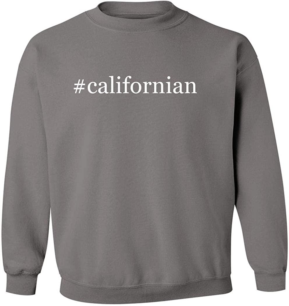 #californian - Men's Hashtag Pullover Crewneck Sweatshirt, Grey, Medium