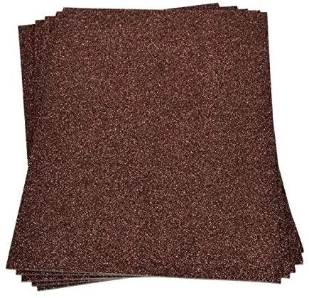Efco 300 x 200 mm Foam Glittered Rubber Sheets, Dark Brown