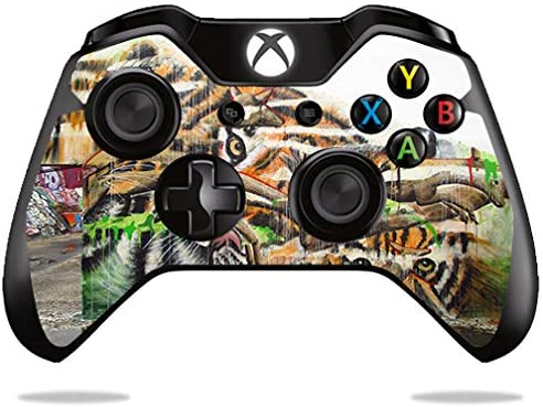 MightySkins Skin Compatible with Microsoft Xbox One or One S Controller - Tiger Eyes | Protective, Durable, and Unique Vinyl wrap Cover | Easy to Apply, Remove, and Change Styles | Made in The USA