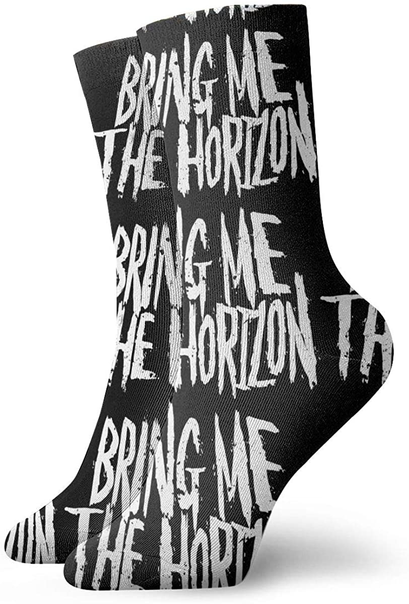 Unisex Womans Men's Socks Bring Me The Horizon 2019 Tour Sports Socks Cushioned Dress Crew Socks For Running,Hiking,Recovery & Flight