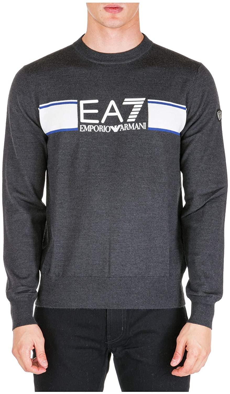 Emporio Armani EA7 Men Sweater Carbon Melange