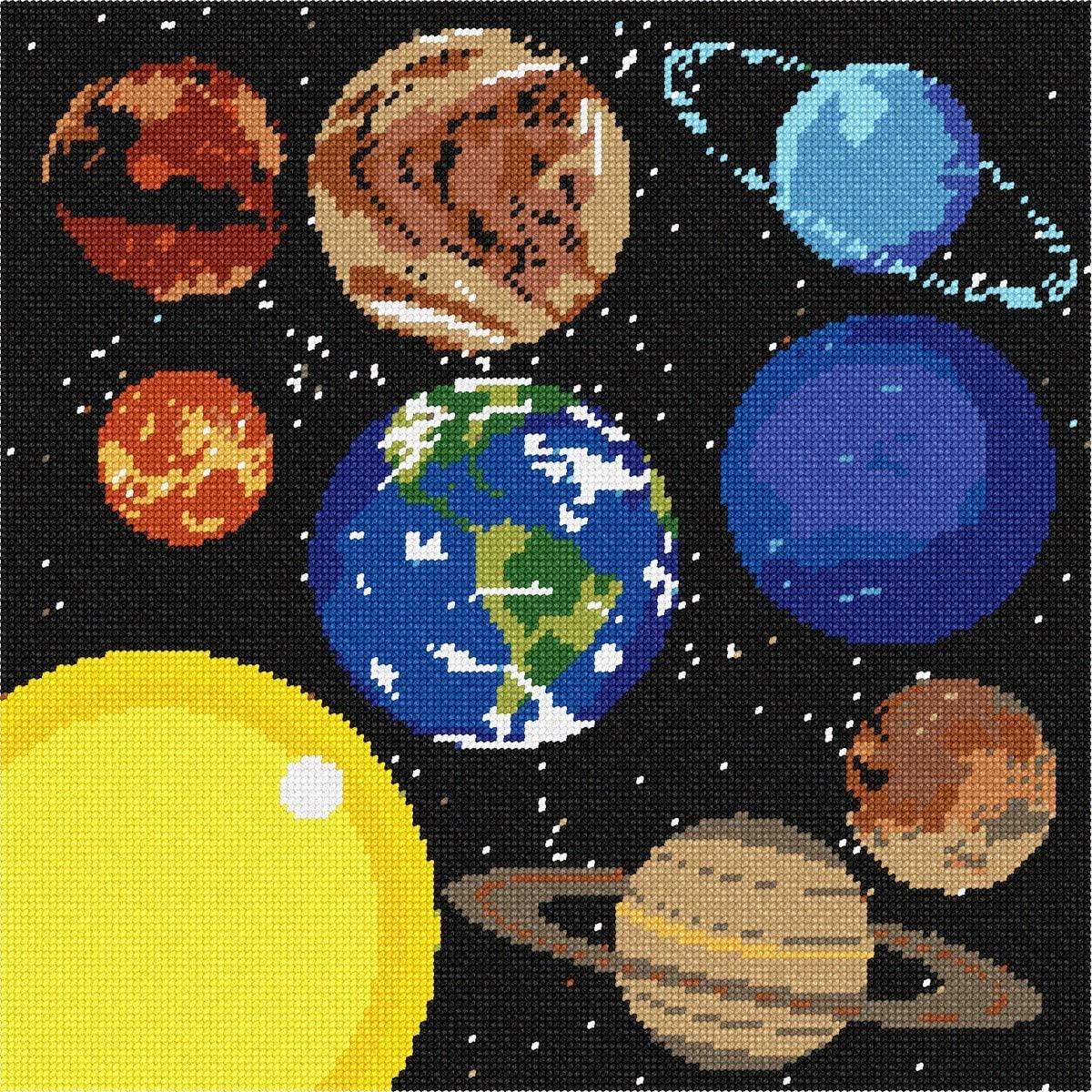pepita Solar System Needlepoint Canvas