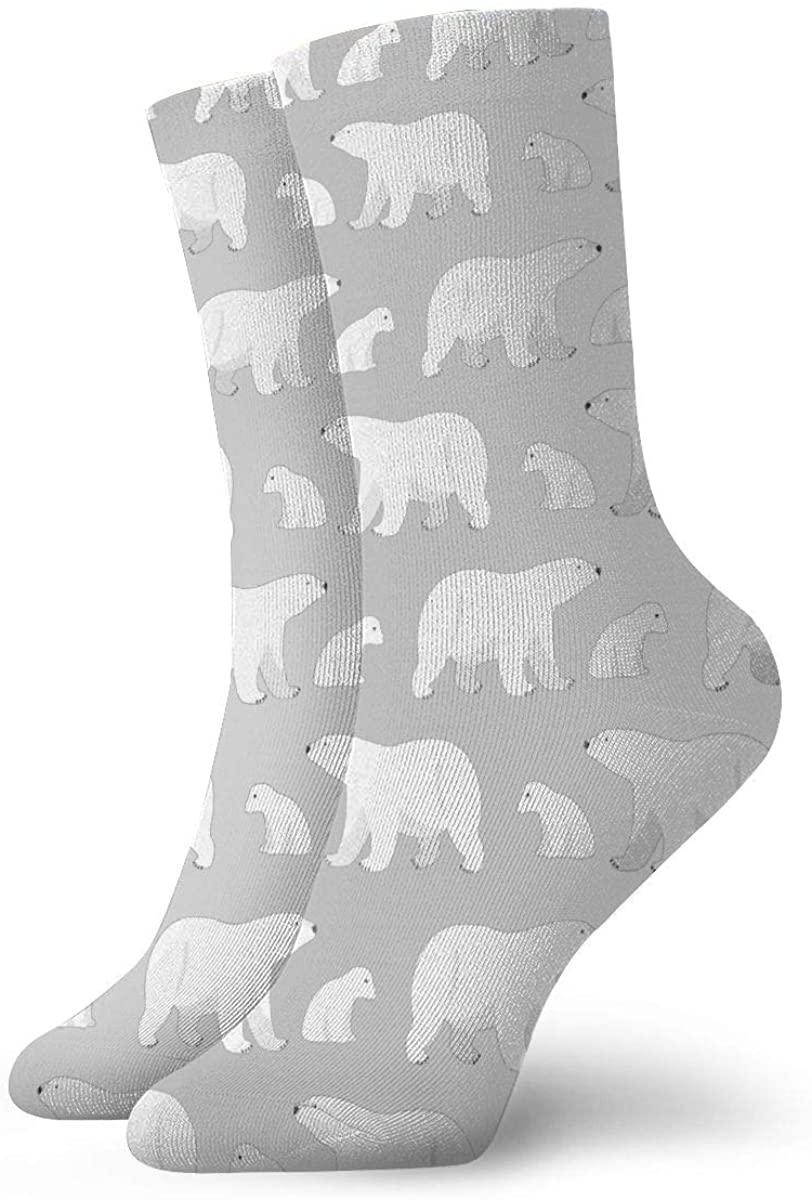 Polar Bear Baby Cartoon Pattern Short Crew Socks Athletic Tube Socks For Men Women