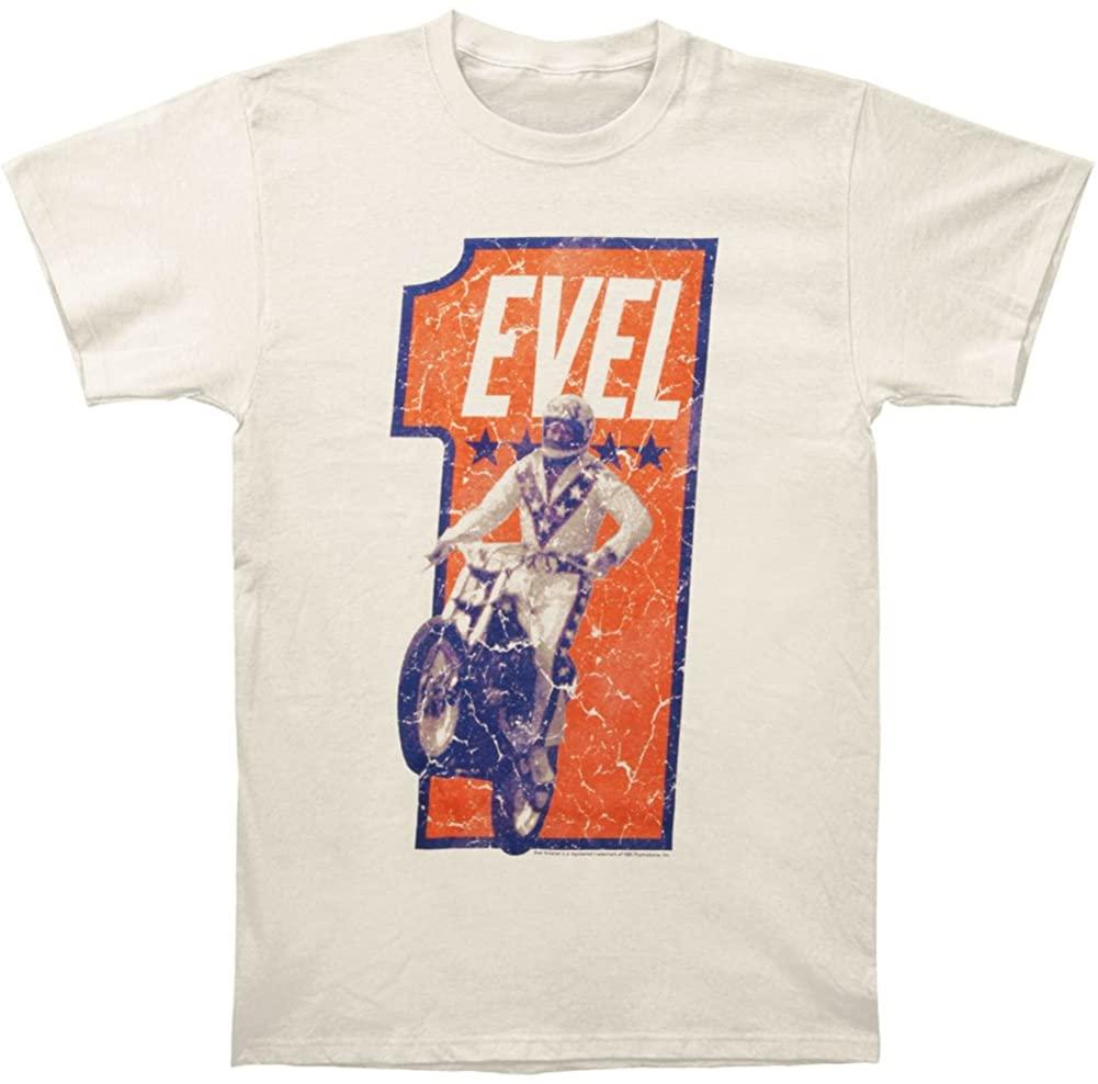 Evel Knievel Men's Numbah One T-Shirt Vintage