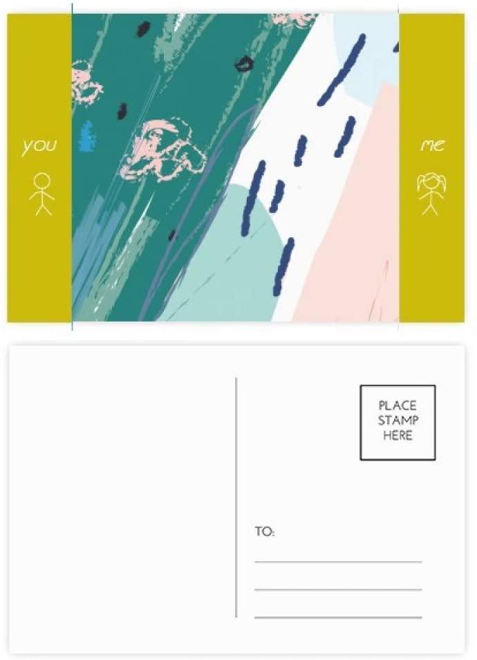 Rivers Abstract Plants Art Pattern Friend Postcard Set Thanks Card Mailing Side 20pcs