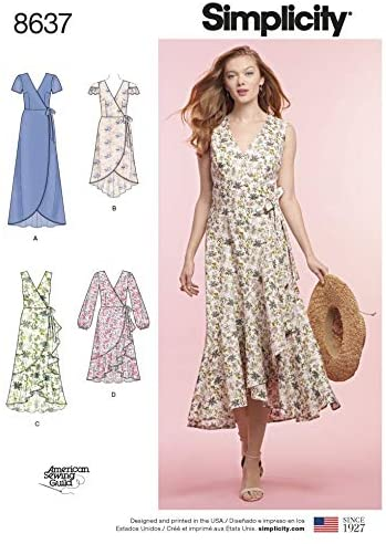 Simplicity Sewing Pattern 8637 Dresses H5 (6-8-10-12-14)