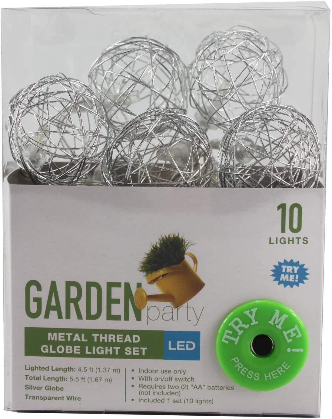 Connie N Randy Garden Party Metal Thread Globe Light Set