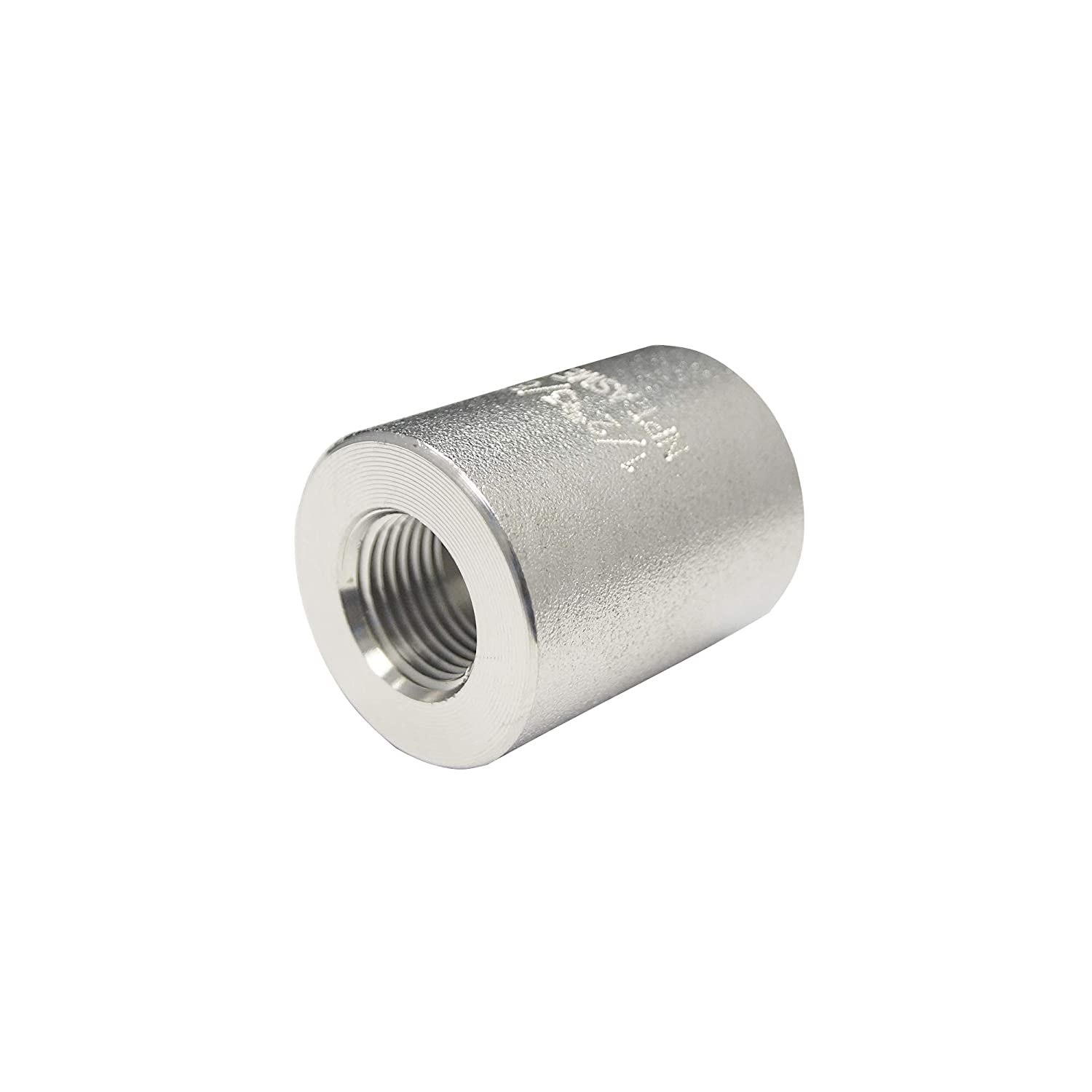 Stainless Steel 316 Forged Pipe Fitting, Reduced Full Coupling, 1 NPT Female x 1/4 NPT Female, 6000 PSI