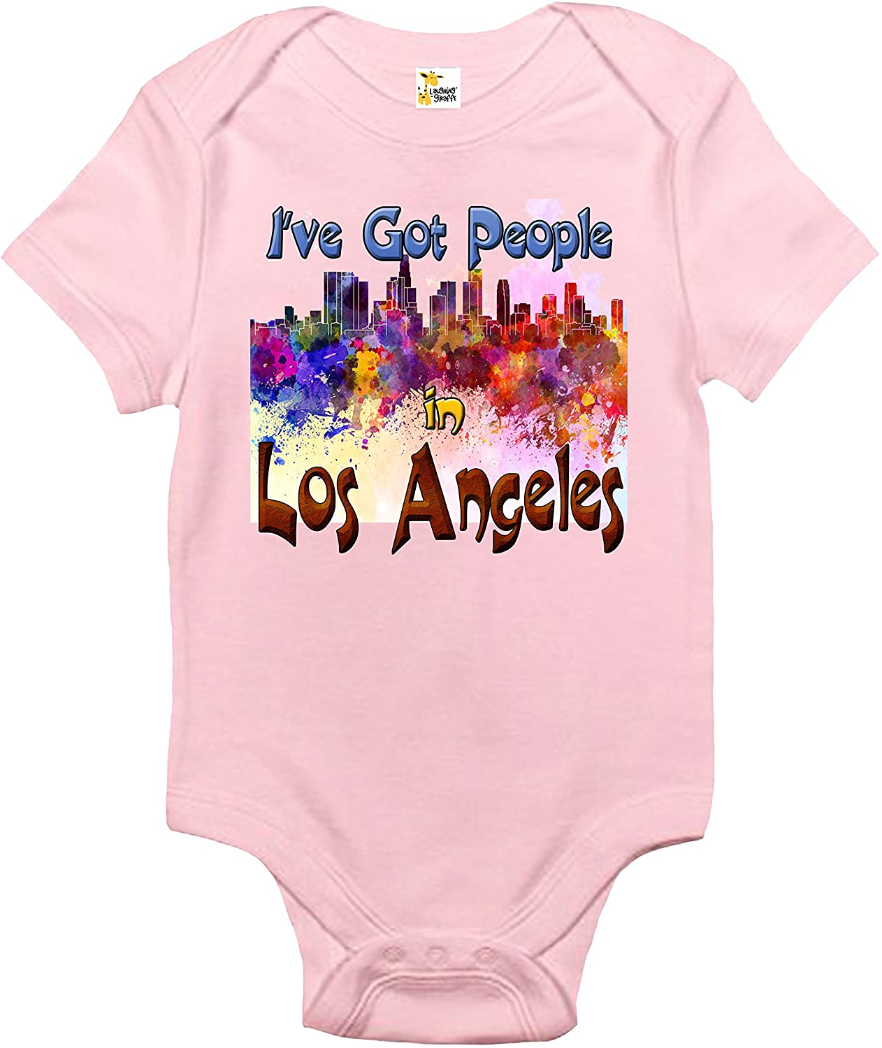 Baby Bodysuit - I've Got People in Los Angeles Baby Clothes for Infants