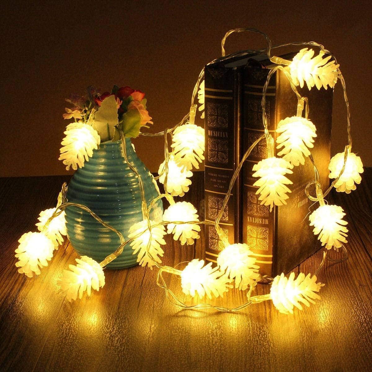 Christmas Tree Decoration Lantern,Pinecone Light Battery Powered Festival Creative Pre-Lit Eco-Friendly Christmas Tree Decoration Lights-A-5m