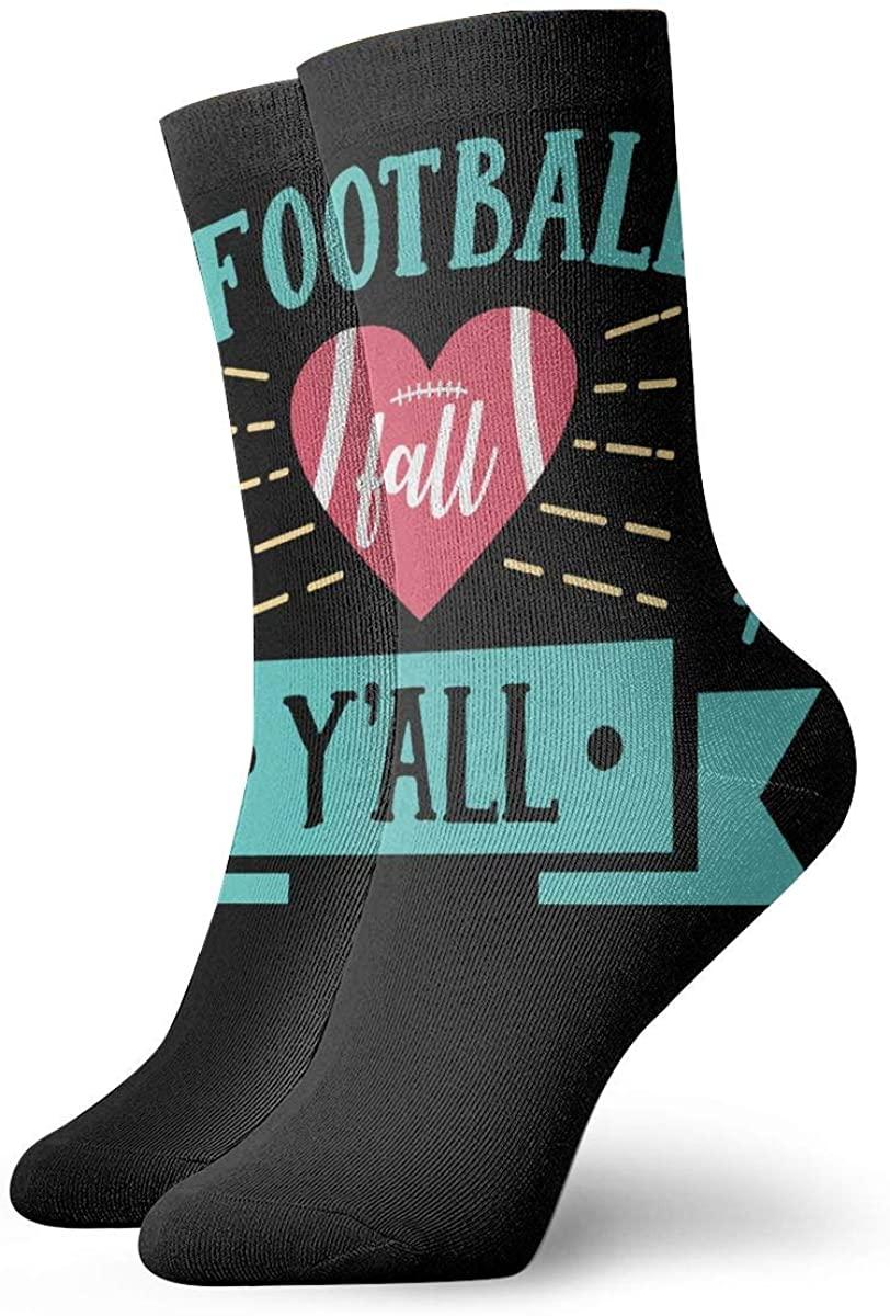 Football Fall YAll Short Crew Socks Dress Socks Athletic Socks