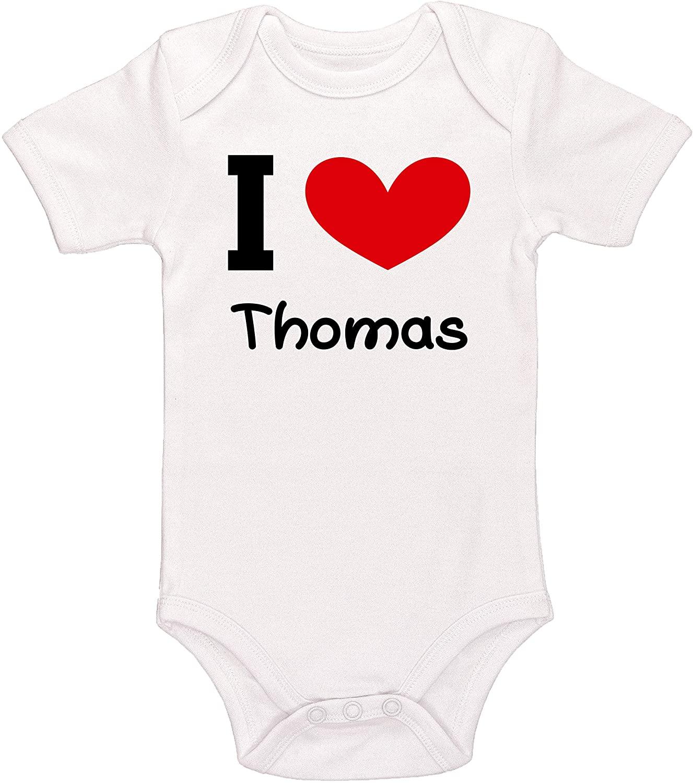 Kinacle I Love Thomas Personalized Baby Bodysuit