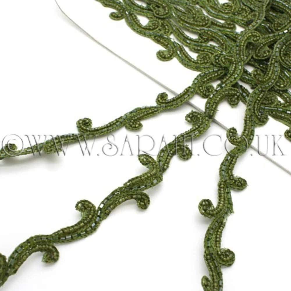 Olive Green Swirl Trim - Sarahi.NYC