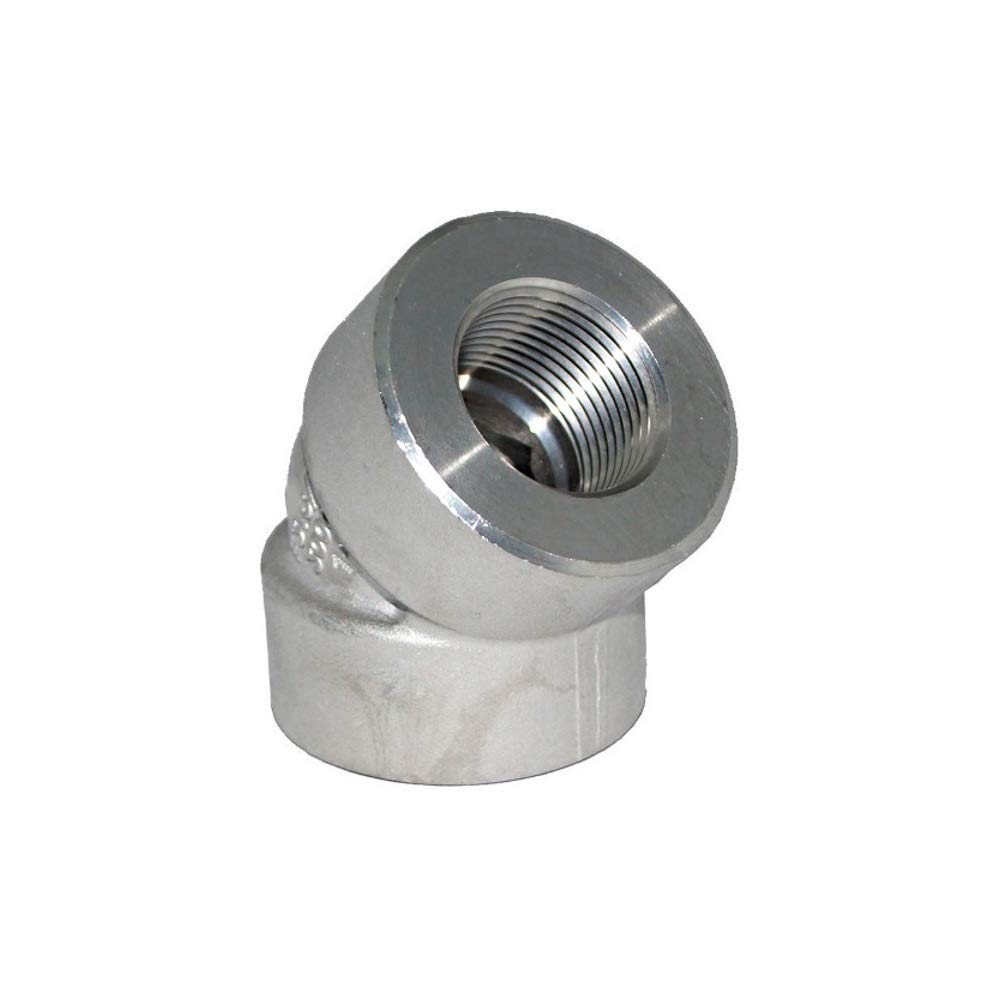 Stainless Steel 316 Forged Pipe Fitting, 45 Degree Elbow, 3/4