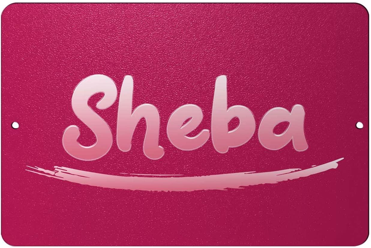 Makoroni - Sheba Female Name 12x18 inc Aluminum Decorative Wall Street Sign