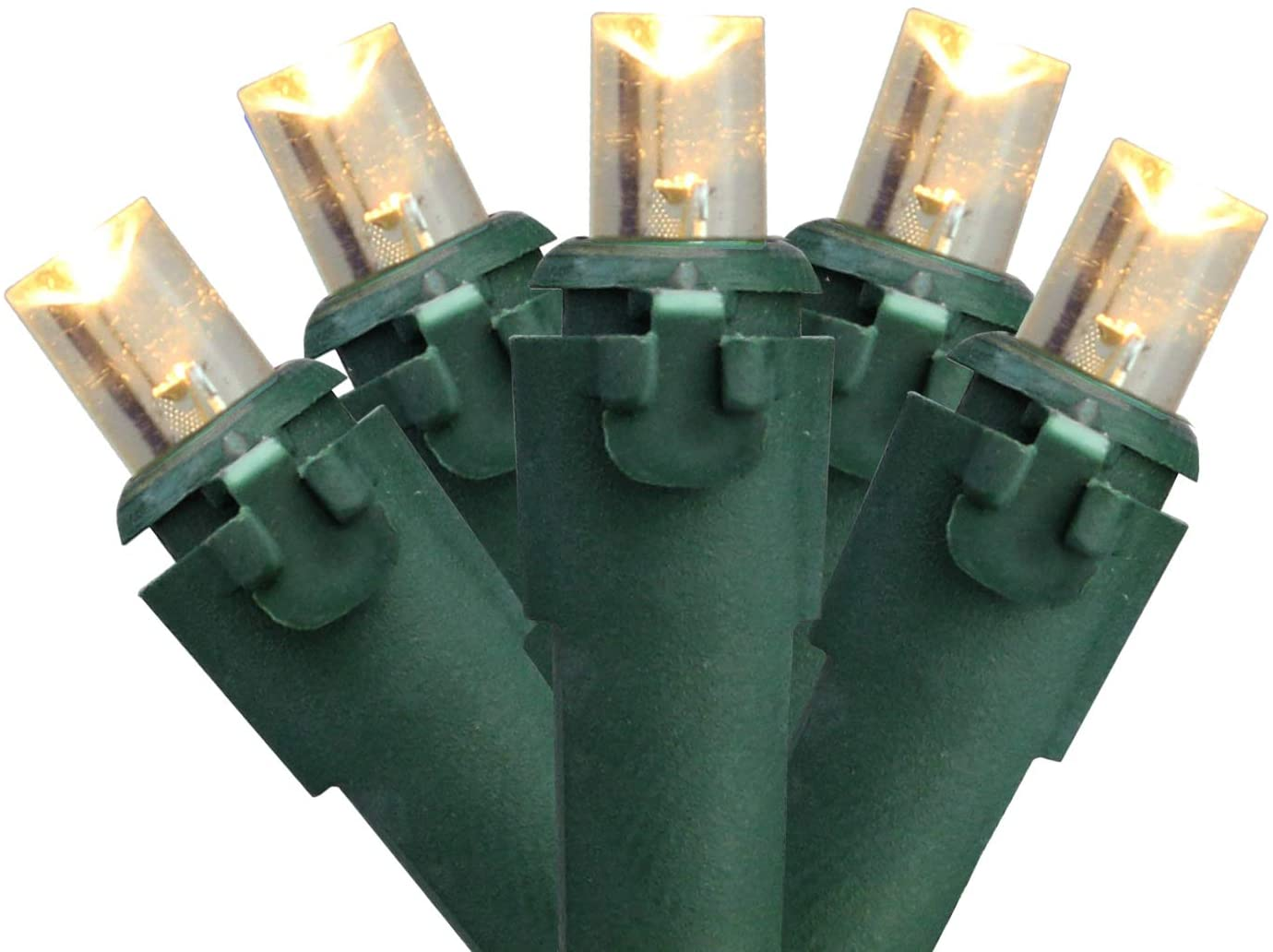 Northlight 50 Warm White LED Wide Angle Christmas Lights - 16.25 ft Green Wire