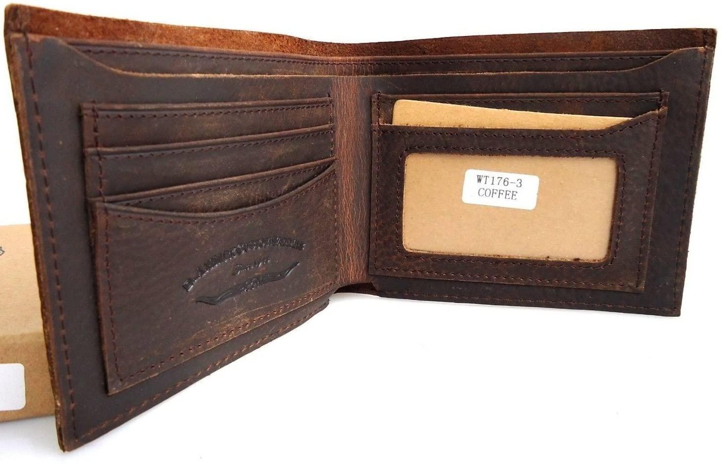 Men Money Genuine Leather Wallet Skin Coin Skin Natural Pocket Purse Soft Retro Style Club thin brown