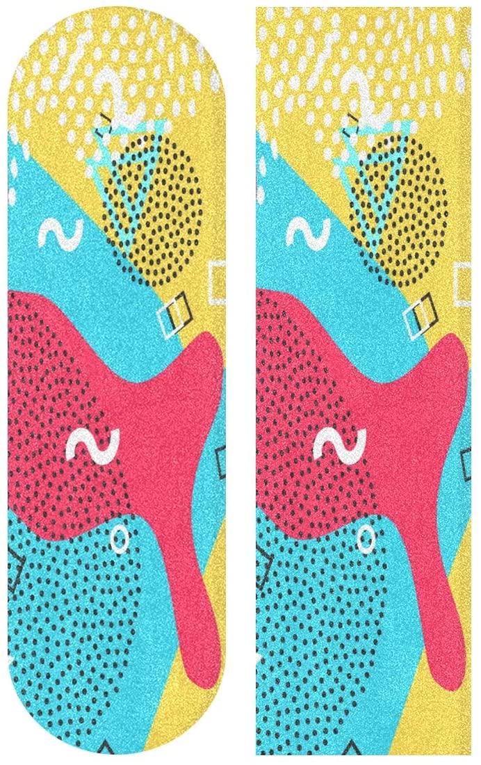 Skateboard Sandpaper, Amazing Thai Dragon Pattern 33.1 x 9.1 inch Skateboard Pedal Tape,Self-adhesive Bubble-free Waterproof Non-slip Skateboard Grip Tape Long board Skateboard Griptape Sticker