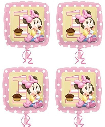 4x Disney Baby Minnie Mouse 1st Birthday 18