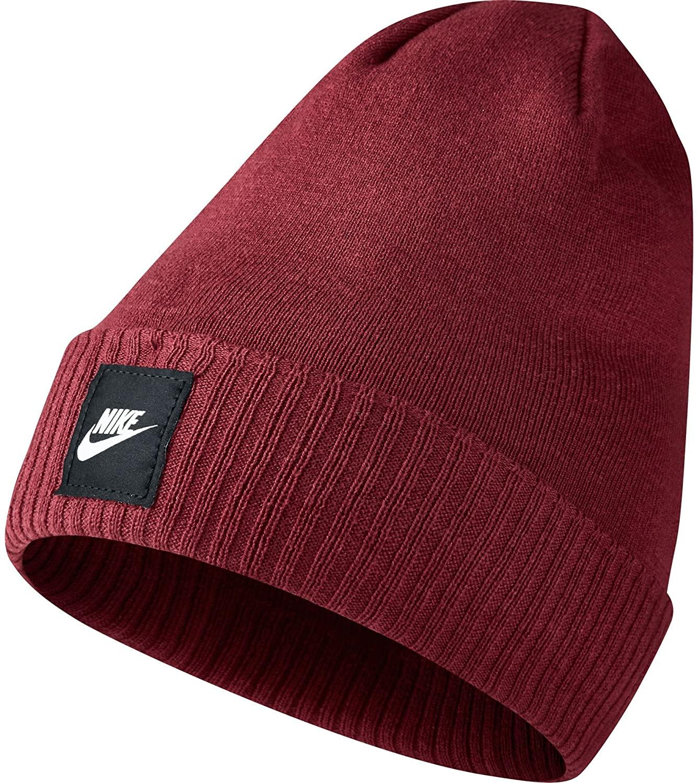 Nike Futura Men's Beanie Warm Knit Winter Hat Red 803732-677
