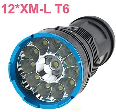 10000 lumens Ultra Bright Flashlight 3 Switch Mode Waterproof Tasklight Outdoor Hiking Camping 18650 Battery Operate