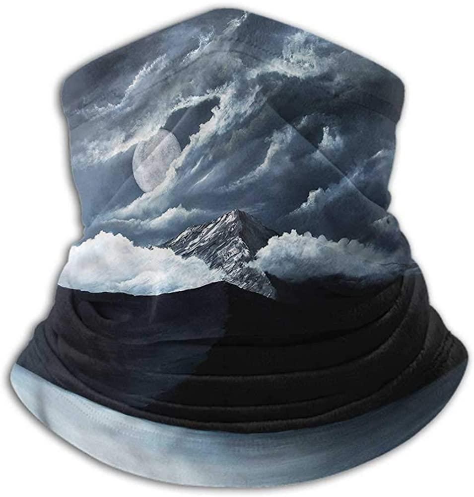 Face Cover Landscape Ski Tube Scarf Lake Hill in America 10 x 12 Inch
