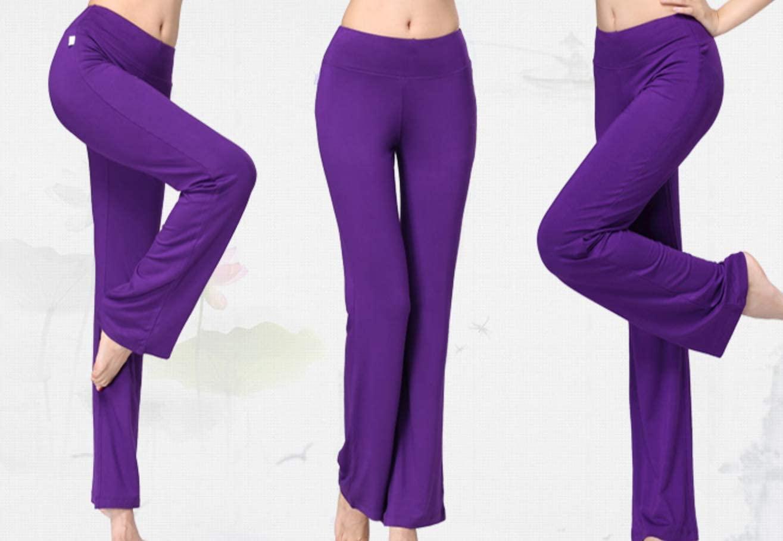Women's Comfortable Cozy Soft Modal Yoga Pants Sports/Jogging/Casual Straight Trousers (XXXL)