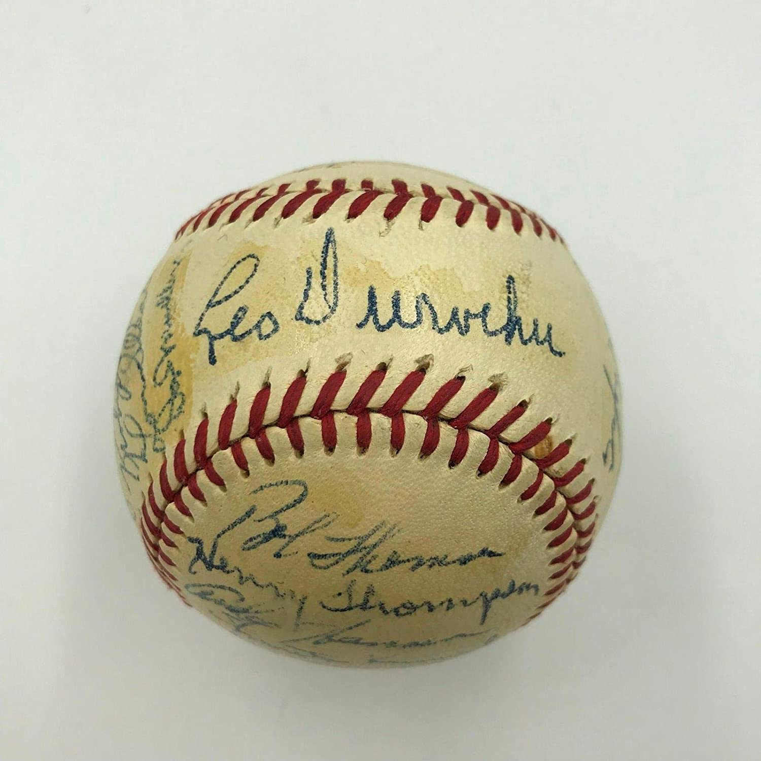 Nice 1950 New York Giants Team Signed National League Baseball With JSA COA - NFL Autographed Miscellaneous Items