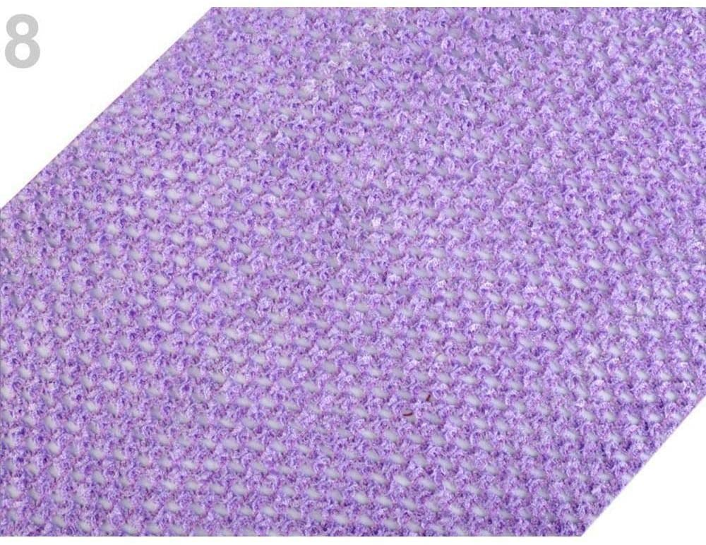 1m Violet Lilac Mesh Elastic Tutu Width 24-25cm 2nd Quality, Other, Knit, Haberdashery