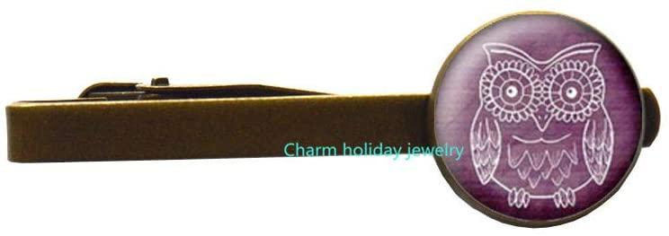 Gift Owl Tie Clip,Silver owl Tie Clip,Bird Tie Pin Tie Clip Everyday Jewelry 116