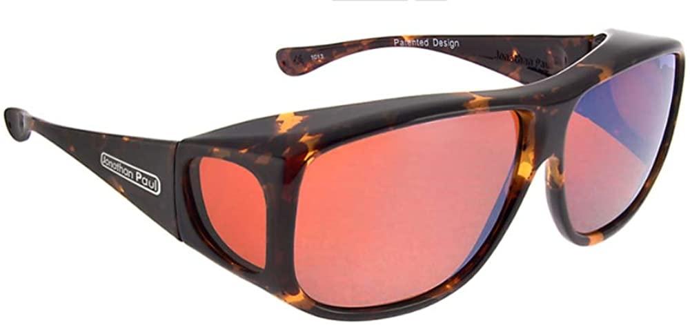 Jonathan Paul POLARIZED Fitovers Eyewear Sunglasses Aviator AV002R Tortoiseshell Frame-Polarvue Roadster Lens-Extra Large