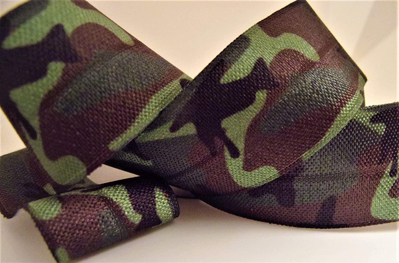 Fold Over Elastic - Army Camouflage Printed FOE - 10 Yards, 7/8