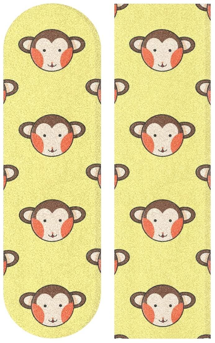 Hulahula Monkey Yellow Art Skateboard Grip Tape Sheet Anti Slip Longboard Griptape Bubble Free 33
