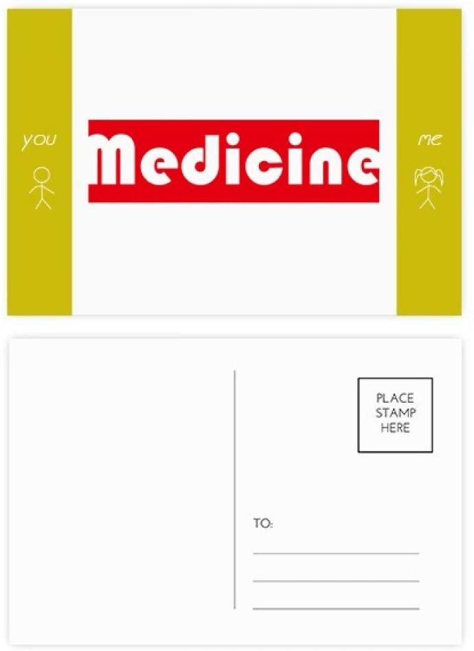 Course And Major Medicine Red Friend Postcard Set Thanks Card Mailing Side 20pcs
